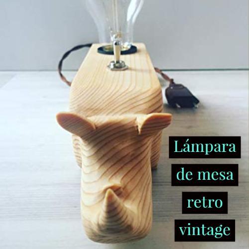 lampara de mesa retro vintage