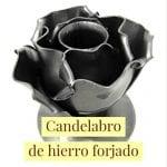 candelabro de hierro forjado