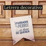 letrero decorativo