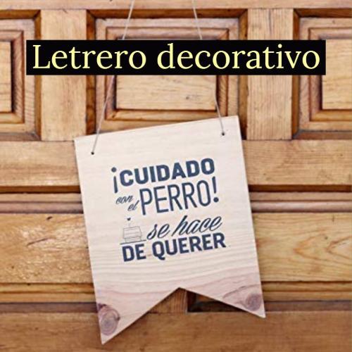 letrero decorativo