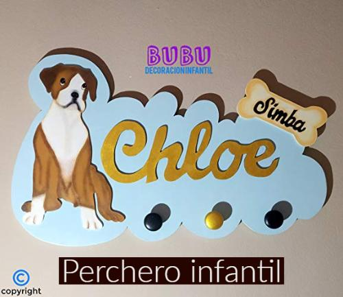 perchero pared infantil