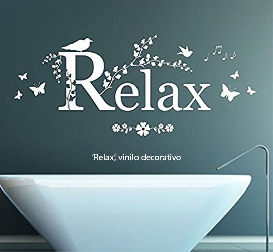 'Relax', vinilo decorativo para tu baño