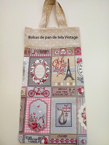 Bolsas de pan de tela Vintage contra los plásticos