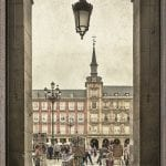 cuadro plaza mayor Madrid: emblema histórico