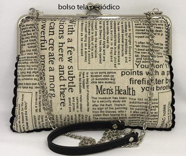 bolso tela periódico hecho a mano