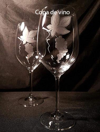 copa de vino elegante