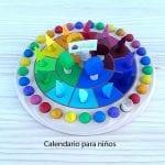 Calendario para niños Montessori
