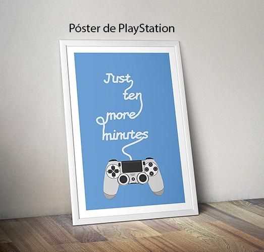 póster de playstation con ilustración