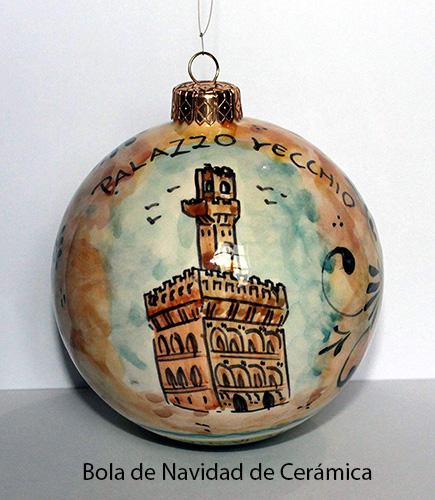 bola de navidad de cerámica para árbol