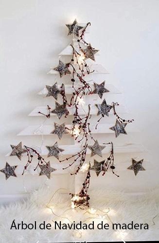 árbol de navidad de madera vintage