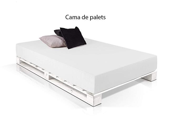 Cama de palets blanca