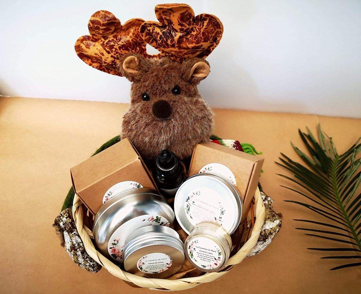 Cesta de Navidad con productos ecológicos